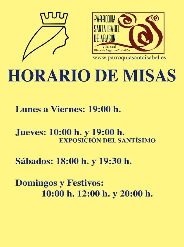 horarios de misas